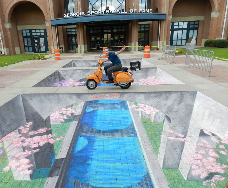 3D Street Painting at Macon Cherry Blossom Festival
