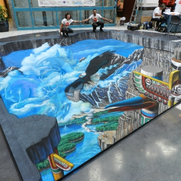 'Spirit of Victoria, B.C.' 3D Streetpainting by Tracy Lee Stum